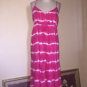 Aeropostale tie-dye maxi dress
